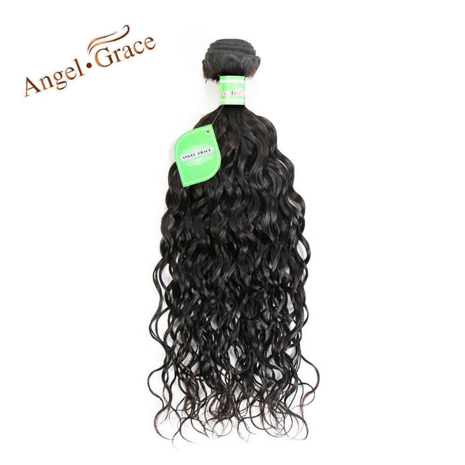 Angel Grace Hair Natural Wave Brazilian Hair 100% Human Hair Extensions Natural Color Remy Hair Bundles Free Shipping