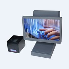 Touch POS System all in one pos pc 15 inch pos computer with 80mm epson tehrmal receipt printer