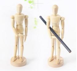 1 teile/satz 8 zoll Farbe Skizze Modell Menschen Holz Mann Zeichnung Modell Schulbedarf Künstlerbedarf Kunst Set ASS039