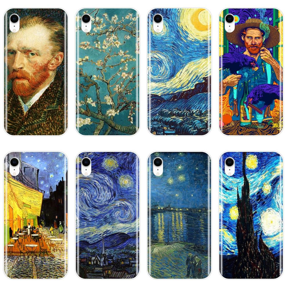 Van Gogh Art Phone Case For iPhone X XR XS MAX 8 7 6S 6 S Soft Silicone Back Cover For Apple iPhone 8 7 6S 6 S Plus Case