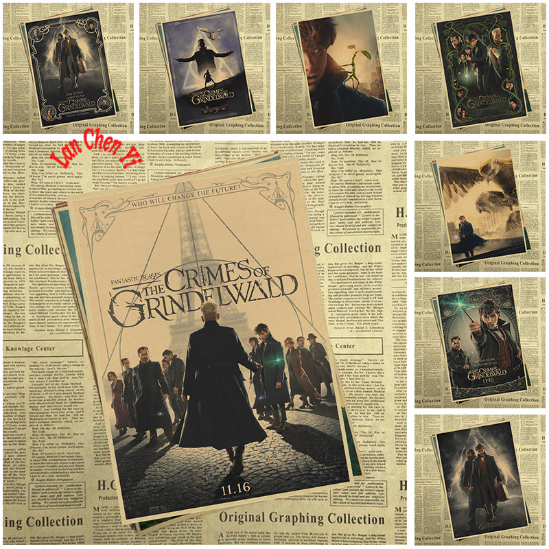 Fantastic Beasts:The Crimes Of Grindelwald Kraft Paper Poster For Home Decoration Print Decorative Wall Art