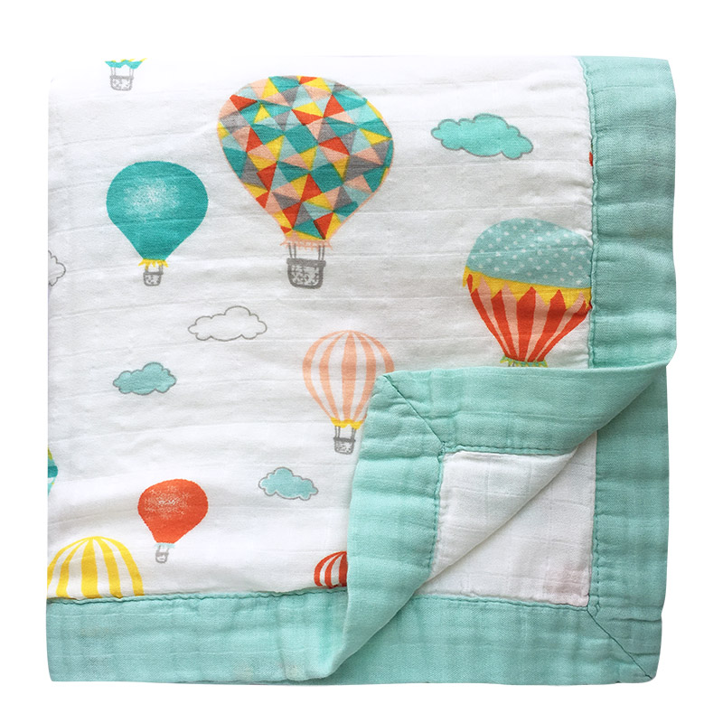 Newborn Baby Bamboo Cotton Baby Blanket Two Layer Bamboo Baby Muslin Blanket Infant Wrap