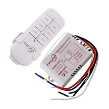 220V 3 Channels Way Digital Wireless Light Lamp Home Wall Corridor Switch Splitter Box Durable Remote Control