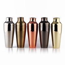 Abanador de cocktail parisiense premium, cobre/ouro/preto/bronze & espelho acabamento shaker, 18 8 aço inoxidável barware/ferramentas