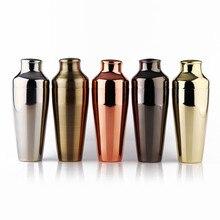 Abanador de cocktail parisiense premium, cobre/ouro/preto/bronze & espelho acabamento shaker, 18-8 aço inoxidável barware/ferramentas