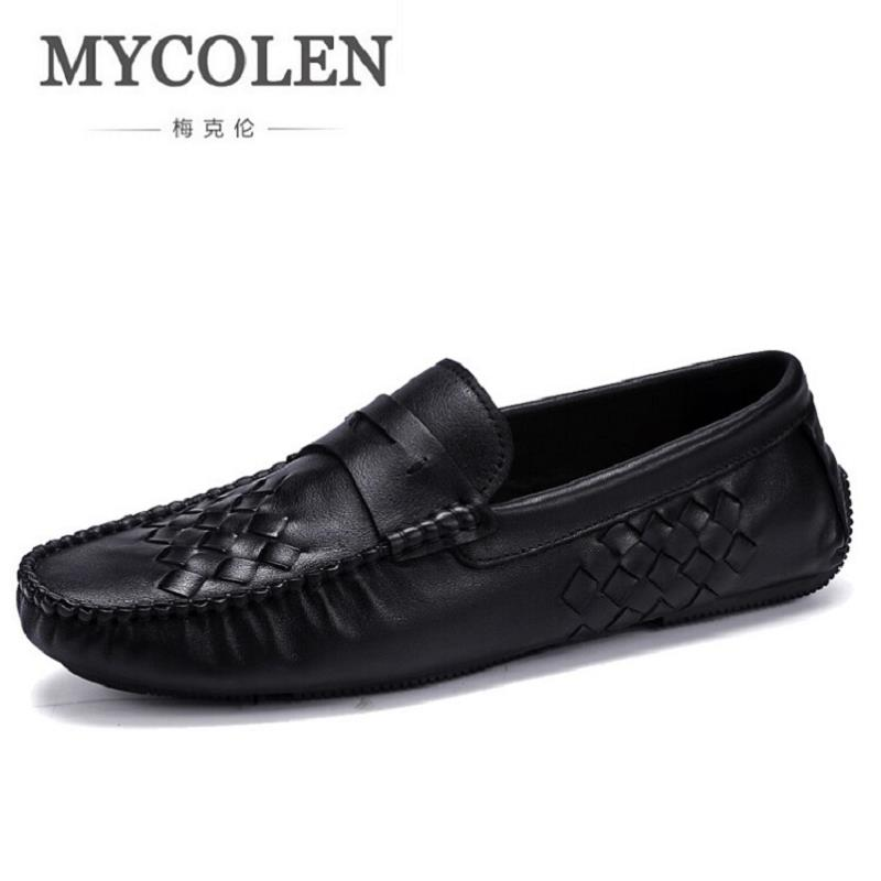 MECOLEN Brand Men Shoes 2017 New Breathable Men Loafers Luxury Men's Flats Business Men Casual Shoes chaussures homme cbjsho brand men shoes 2017 new genuine leather moccasins comfortable men loafers luxury men s flats men casual shoes