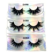 1660a253957 3pcs/lot 100% real siberian 3d mink fur strip false eyelash long individual  eyelashes