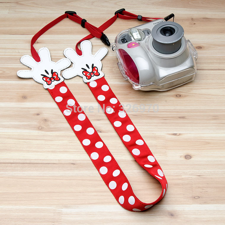 Minnie Strap DSLR SLR Camera Shoulder Belt Neck Camera Strap Holder Fit All Canon Nikon Sony Pentax Fuji Leica 550d 60d D7000