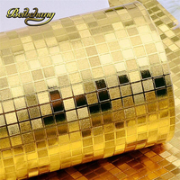 beibehang Mini mosaic Luxury glitter background wall shiny gold foil wallpaper silver ceiling wall paper wall covering