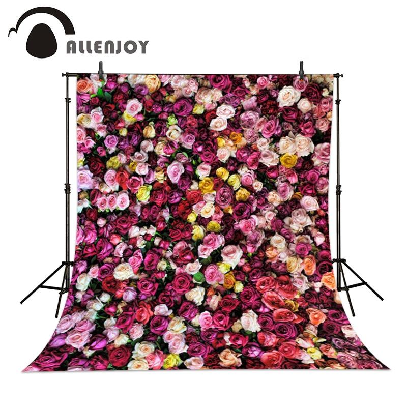 8x8FT Vinyl Wall Photography Backdrop,Paint,Colorful Dahlia Petals Botany Photo Backdrop Baby Newborn Photo Studio Props