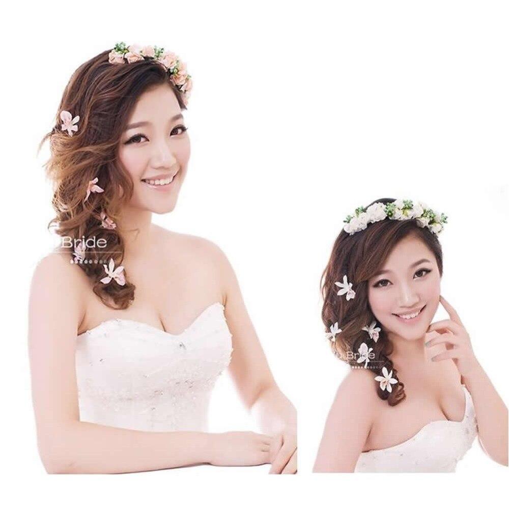 Hair Band Type Bridal Wreath Holder Hoop Bride Wedding