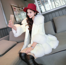 Autumn and Winter women's fashion fur coat female faux mink fur coat female winter thicken warm loose overcoat plus size