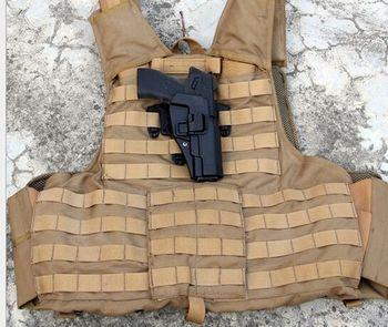 단락 총 홀스터 m92 전술 조끼 가슴 스페셜 에디션 교수형 전용