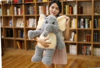 Large 65cm Lovely Cartoon Gray Elephant Plush Toy Soft Doll Throw Pillow Birthday Gift S0843