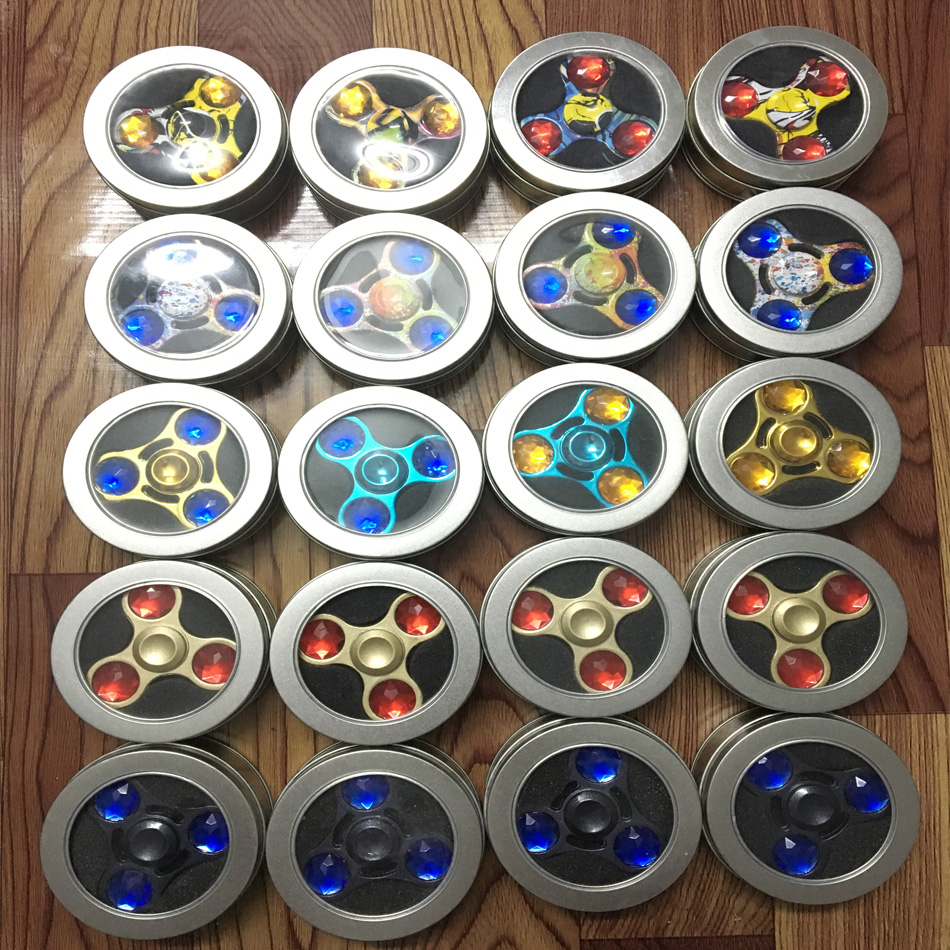 10/lot Tri-Spinner Fidget Toy EDC Hand Spinner for Autism and ADHD Stress Relieve Toy Rotation Time Long Finger Spinner creative ceramic tri spinner fidget toy edc hand spinner for autism and adhd stress relieve toy rotation time beyond 6 minutes