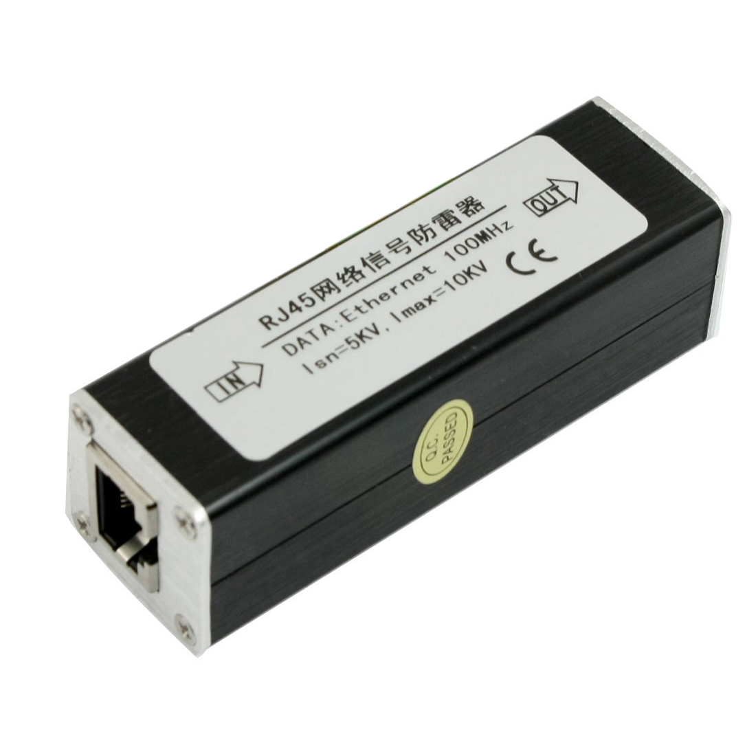 цена на GTFS Hot RJ45 Plug Ethernet Network Surge Protector Thunder Arrester 100MHz