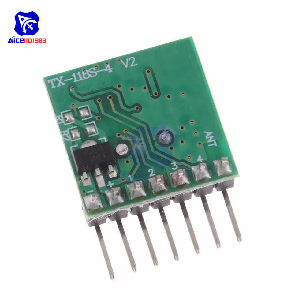 TX118SA-4 sans fil large tension codage émetteur RX480E-4 décodeur récepteur 4 canaux Module de sortie pour 433 Mhz télécommande