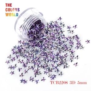 Image 4 - TCT 046  3D Effect 5MM Star Shape 12 Colors Glitter Set For Nail Glitter Sequins Nail Art Decoration Makeup Facepaint And DIY