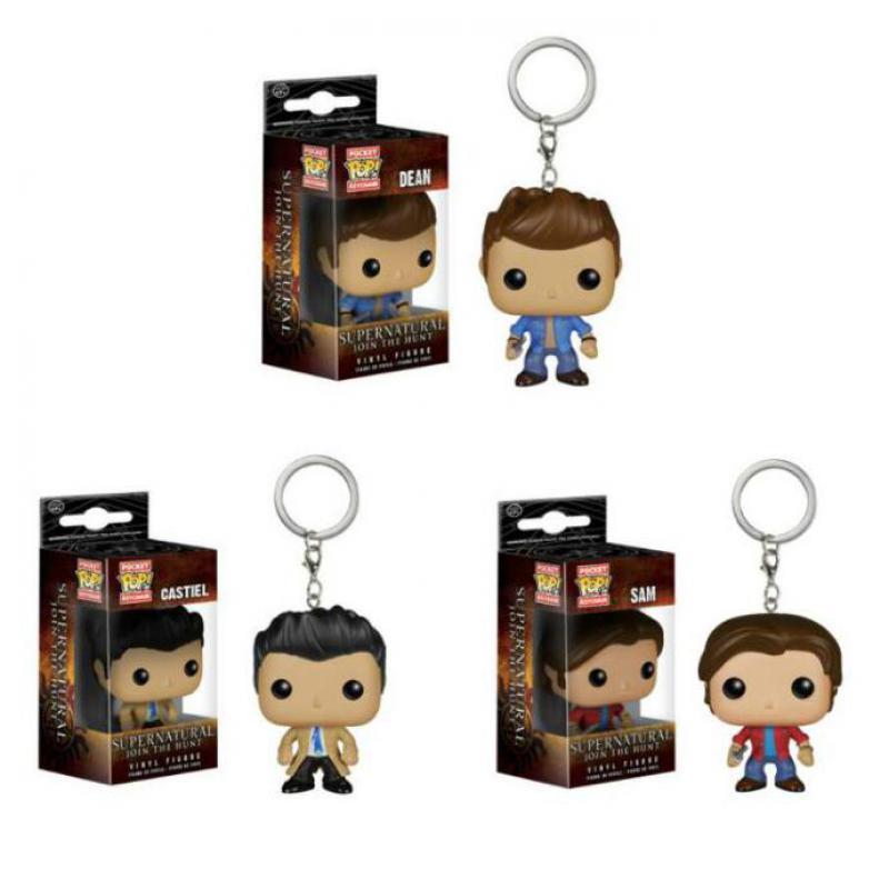 Funko Pop Supernatural Keychain Dean Castiel Sam Action Figure Toy