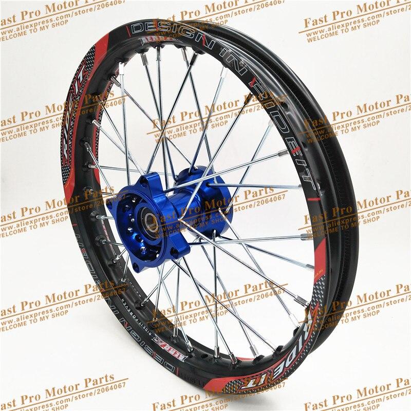 Jantes avant 1.60x14 pouces jantes CNC en alliage d'aluminium jantes 1.60x14 pouces pour KLX CRF KTM Kayo Apollo Pit Bike Dit Bike