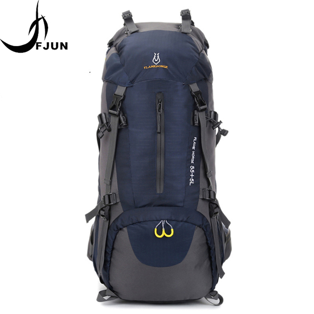 a8539c7cc368 Flame Horse 60L Nylon Water Proof Backpack Large Capacity Outdoor Sports Bags  Camping Hiking Travel Backpacks Hiking Bag BD10