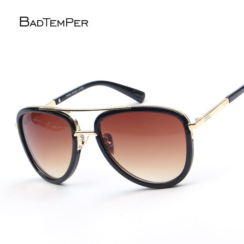 Badtemper cuadrado conductor De lujo para los hombres marca Desinger mujeres doble gafas De Sol aviador masculino vidrio De Sol