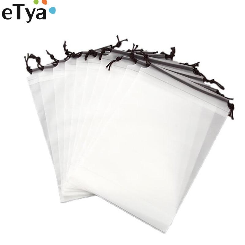 ETya 2019 Waterproof Clear PVC Makeup Bag Women Men Drawstring Travel  Toiletry Cosmetic Bag Organizer Set Pouch Case