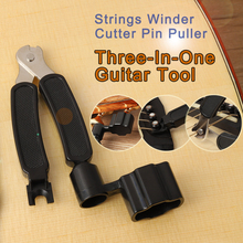 3 in 1 Guitar Tool String Winder Cutter Pin Puller  Set Multifunction Accessories