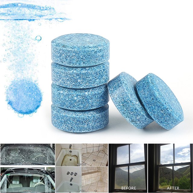 10pcs Liplasting Car Windshield Glass Washer Strong Cleaning Concentrate Effervescent Tablet For Auto And Household Clean