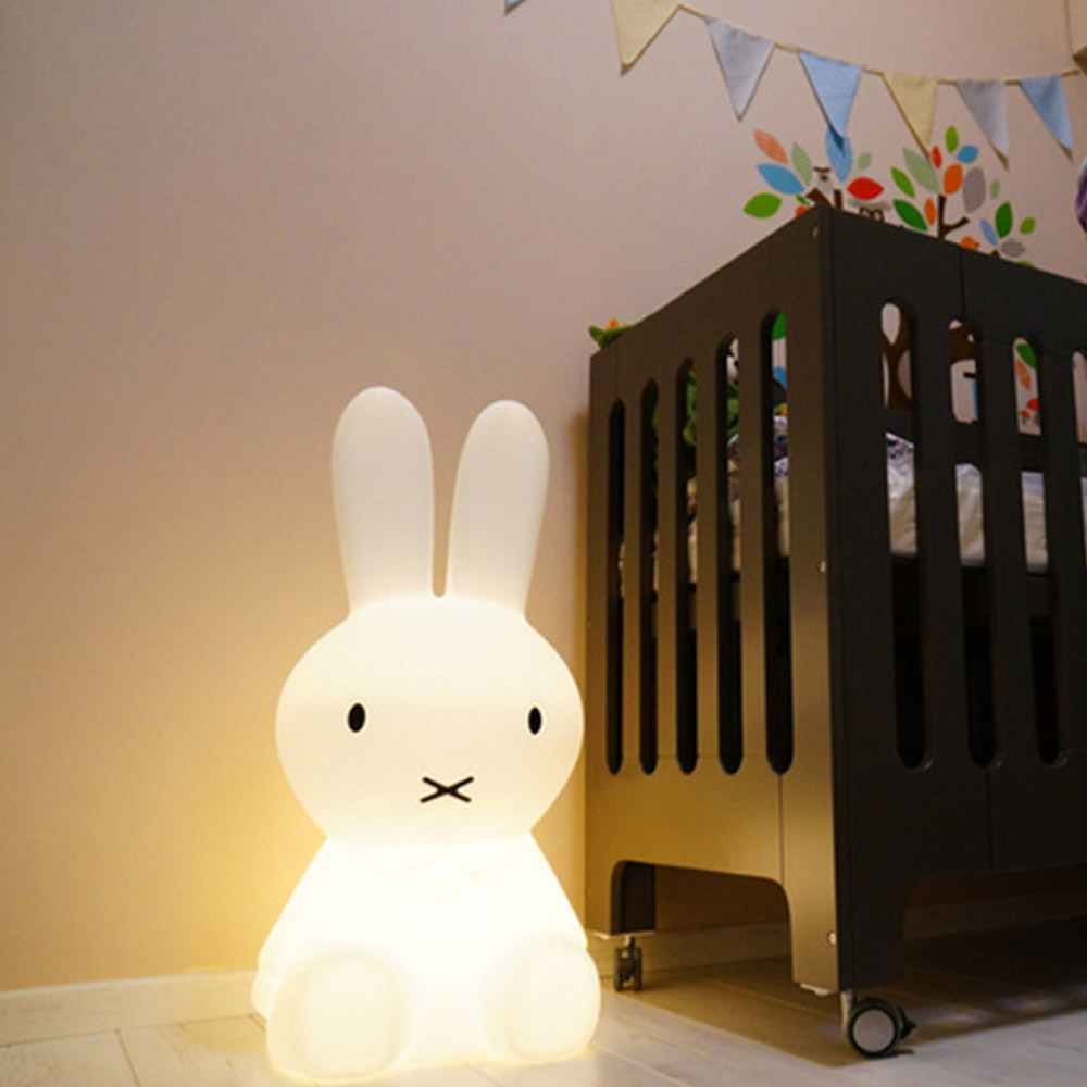 Big Rabbit LED Night light 50CM Dimmable Children Nursing Night Light Baby Kids Bedroom Bedside Cute Desk Table Lamps novelty led night light wireless remote control dimmable night lamp rgb kids children desk table lights usb 5v