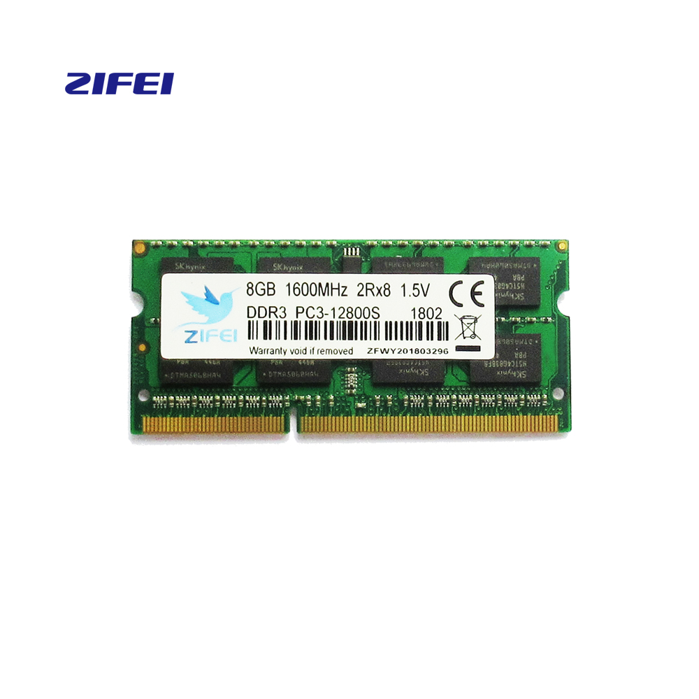 Memoria RAM ddr3 so dimm per dimm 2G1333 ZIFEI 4G 8G Laptop DDR 1600 Memoria DRAM Stick per Notebook