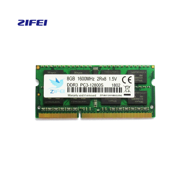 ZIFEI 2G1333 ddr3 so dimm para dimm de Memória RAM 4G 8G Laptop DDR 1600 Memória DRAM Vara para Notebook
