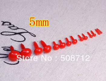 Free shipping!!!!DIY felt toy ------200pcs mini 5mm red color Plastic Safety Eyes fit felt toy/diy felt rabbits фото