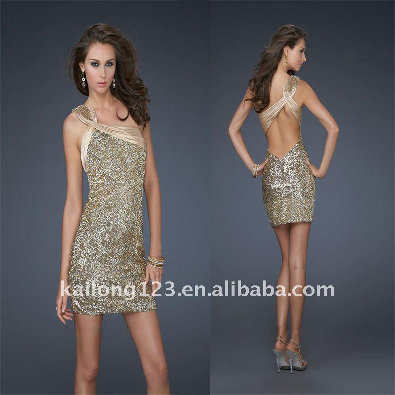 Gold Short Cocktail Dresses