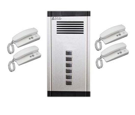 SMTVDP New Arrival Audio Door Phone Intercom System 4-way Audio Doorbell,New Design Indoor Unit Unlock Function+Free Shipping
