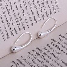 silver plated earrings ,  silver fashion jewelry , shiny skinny ovoid /cdnakuua duvammca LQ-E004