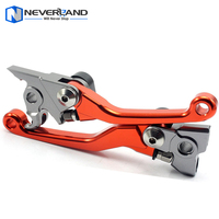 New CNC Pivot Brake Clutch Levers For KTM 250SX 250 SX 2006 2013 Orange 2007 2008