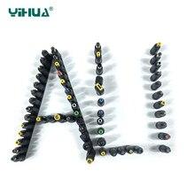 30 unids/set Universal DC conector adaptador de fuente de alimentación enchufe DC conversión cabeza portátil enchufe de alimentación conversor adaptador de corriente