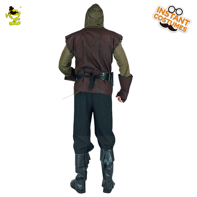 New high quality  Robin Hood costume Brave Green arrow man role play party Fancy clothing For Halloween party Masquerade Dress