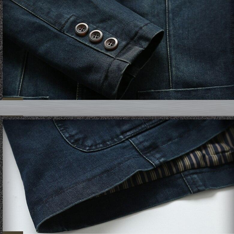 16d25bdb7f LONMMY Jeans blazer hombres 80% Algodón chaqueta vaquera Chaqueta Hombre  blazer trajes para hombres marca jaqueta moda M 4XL en Blazers de La ropa  de los ...