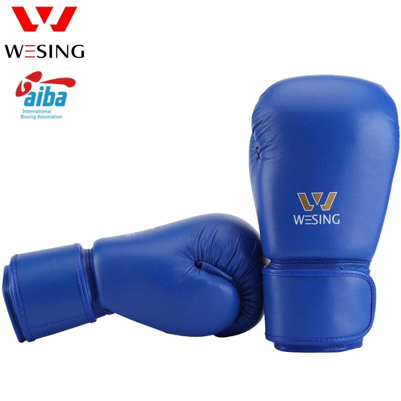 AIBA schválené boxerské rukavice 10oz 12oz vysoce kvalitní mikrovláknové boxerské rukavice