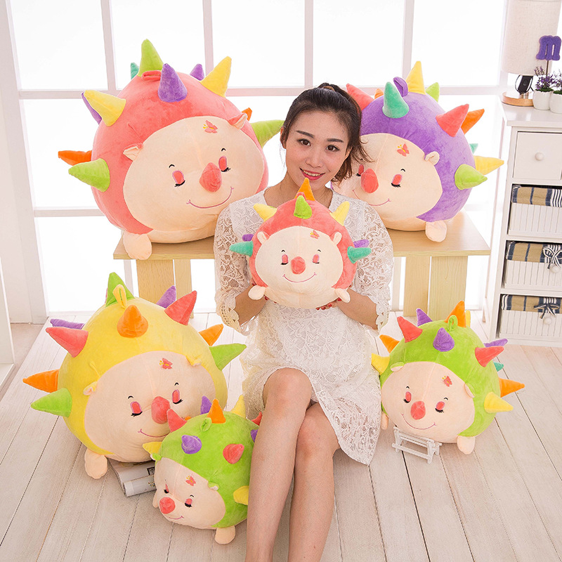 Super Cute Cartoon Creative Colorful Hedgehog Soft Plush Doll Stuffed Toy Children Valentine's Day Gift