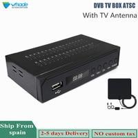 Vmade DVB ATSC HD Digital Terrestrial TV Receiver + TV Antenna Full HD 1080P Analog Convertor For USA / Mexico / Canada / Korea