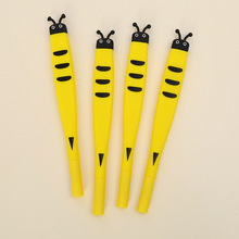 48pcs Creative Stationery Student Pen Bee Gel Full Needle Black Ink School Supplies Office 0.5mm Cute