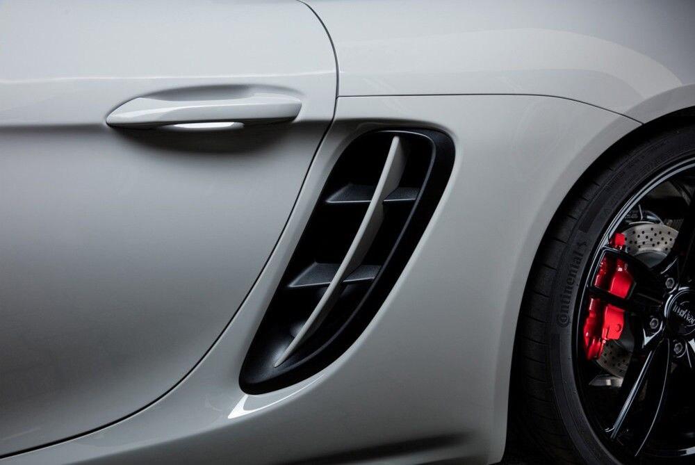 Реальные боковые вентиляционные отверстия из углеродного волокна боковые вентиляционные отверстия подходят для Porsche 718 2016 up