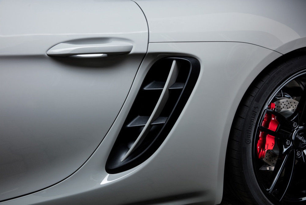 Real Carbon Fiber Side Vents Side Air Intakes Vents Fit For Porsche <font><b>718</b></font> 2016-up image