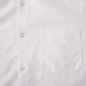 Image 3 - تي شيرت رجالي أبيض مقاوم للتجاعيد مصنوع حسب الطلب سليم تيشيرت ضيق بأكمام طويلة للرجال