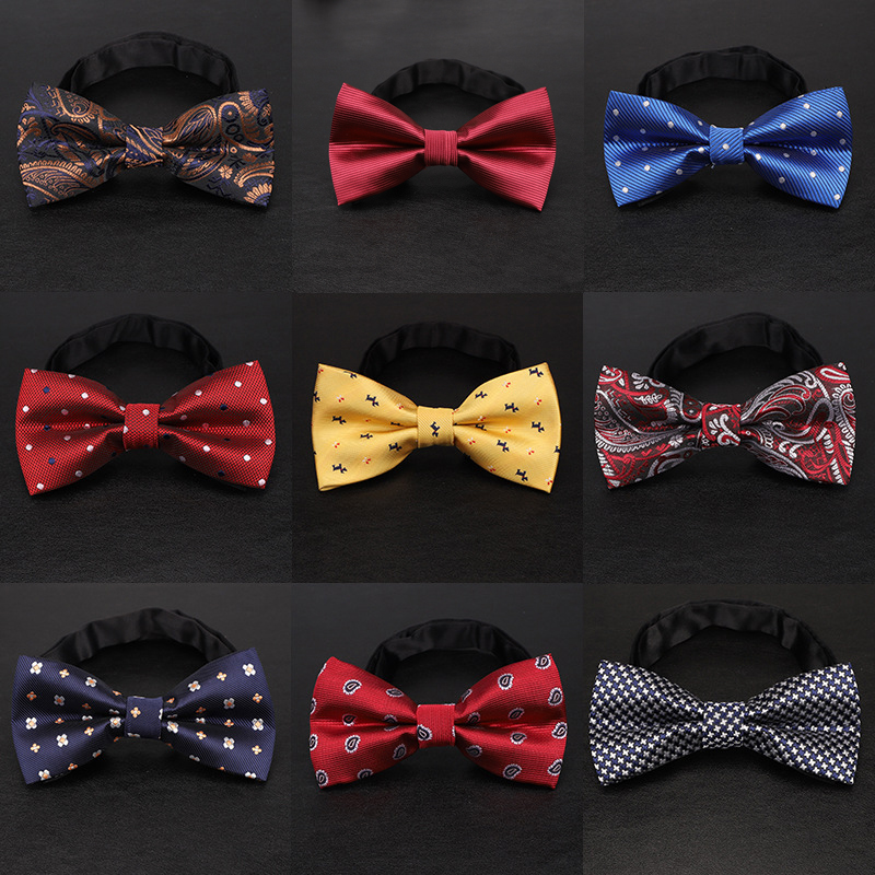 YISHLINE 65 Style LARGE BOW TIE FOR MEN MAN STAIN TIES CARTOON LETTER STRIPES SOLID TIE FASHION TUXEDO WEDDING PARTY ACCESSORIES