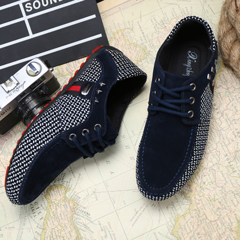 2019 New fashion Men Flats Light Breathable Shoes Flat Shoes Casual Men Loafers Moccasins Man Sneakers Peas Shoes Zapatos Hombre in Work Safety Boots from Shoes