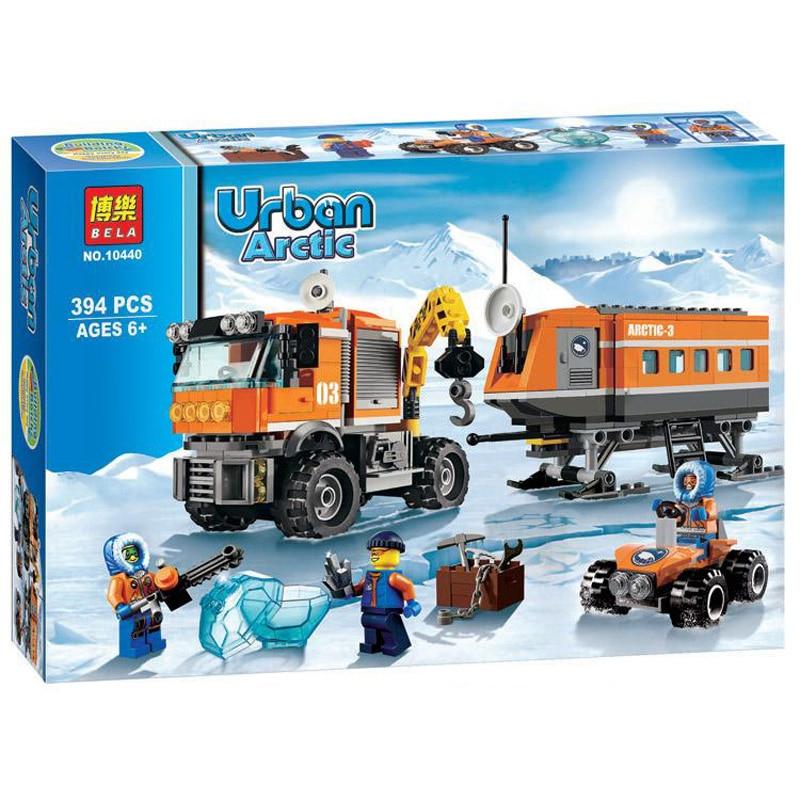 394pcs City Arctic Outpost mobile Laboratory Truck DIY Building Kits Brick Toys for Children Education Building Blocks Gift куртка iriedaily city arctic parka black 700 m